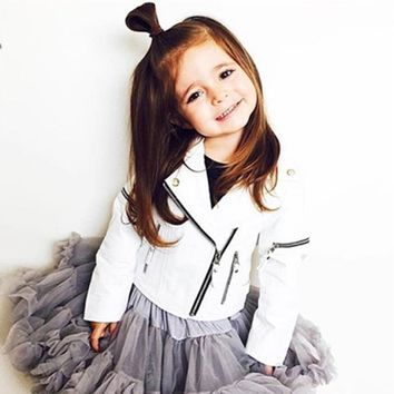 Trendy Ins Spring Kids Jacket PU Leather Girls Jackets Clothes Children Outwear For Baby Girls Boys Clothing Coats Costume Winter 1-7Y AT_94_13