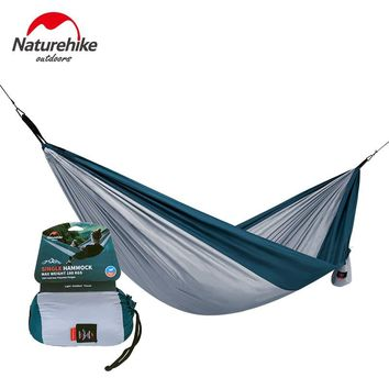 Naturehike Outdoor Camping Hammock Parachute Fabric Ultralight Portable Hiking Hanging Tent Bed Sleeping Picnic Hammocks Swing