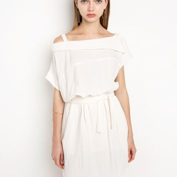 Ivory Strap Off The Shoulder Dress