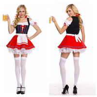 Suspenders Skirt Sexy Costumes For Women Beer Girl Festival French Maid Dresses Halloween Costumes Cosplay oktoberfest costume