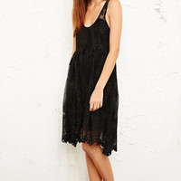 Free People Lace Foil Print Dress - Urban Outfitters