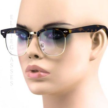 NEW RETRO VINTAGE Nerd Style Clear Lens MEN WOMEN Glasses