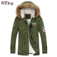 Men's Thick Warm Winter Down Fur Collar Parka Jacket