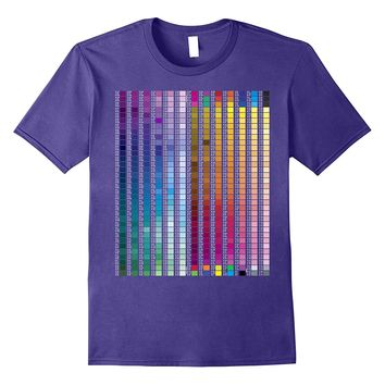 Color Sample Swatches Reference Guide | Dark Colors T Shirt