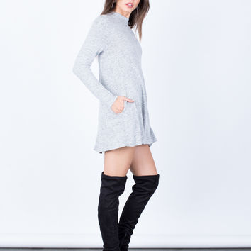 Comfy Knit Tunic Dress
