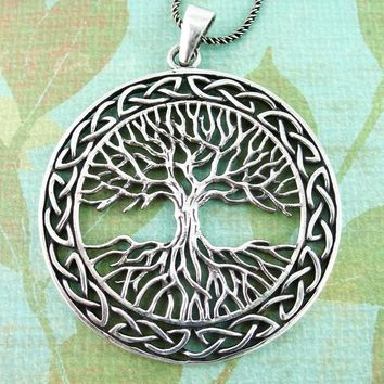 Majestic Tree of Life Medallion Necklace