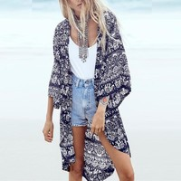 Long Kimono Cardigan Up to 6XL