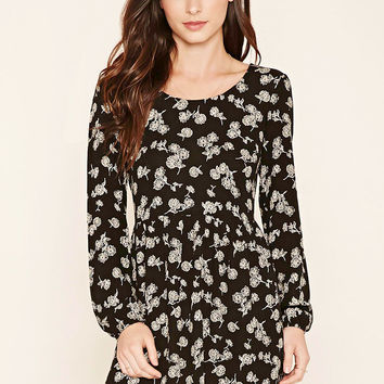 Floral Print Peasant Dress