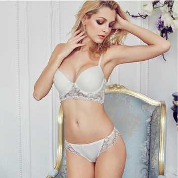 Adjustable Bra Set Lace Sexy Lingerie [4918382340]