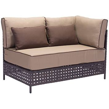 Zuo Pinery Brown Outdoor Right Hand Facing Corner Chaise - #1Y573 | Lamps Plus