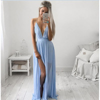 Sexy Chiffon Straps Prom Dress