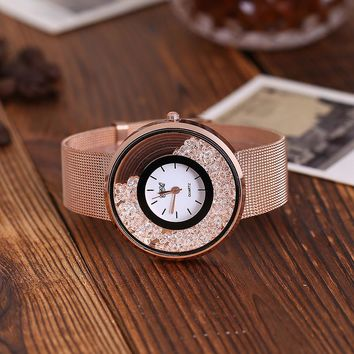 CCQ Casual Quartz Stainless Steel Band Marble Strap Watch Analog Wrist Watch