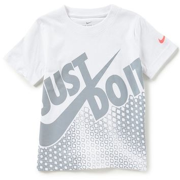 Nike Little Boys 4-7 Short-Sleeve Diamond Net Just Do It Swoosh Tee | Dillards