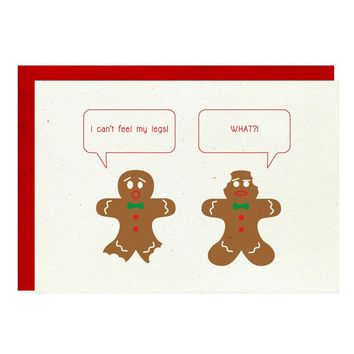 Gingerbread Men Funny Holiday Card Set