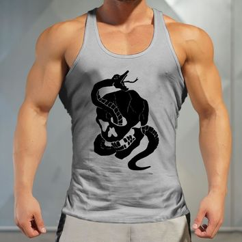2018 Top Male printing Outdoor Sports Running Vests Men Quick Dry Athletic Fit Undershirts Sleeveless Shirts Training Man