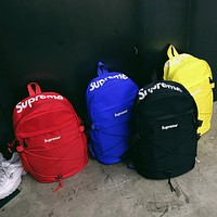 Supreme men's and women's fashion brand fashion college wind waterproof travel backpack