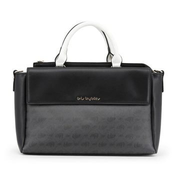 Blu Byblos Black Leather Handbag
