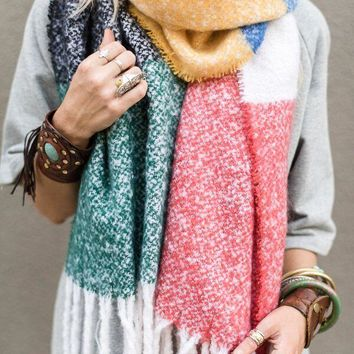 Color My World Knit Scarf