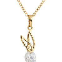 Golden Snitch Rhinestone Necklace
