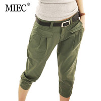 MIEC New 2016 Spring Summer Women's Pant Casual Cropped Trousers /Pants &Capris Harem Pants Women Overall Fashion Students Pants