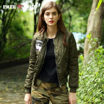 FREEARMY Brand Winter Jacket Women's Coat Female Cotton Padded Bomber Jackets Lady Military Army Casual Parkas Autumn Outerwear