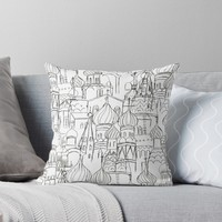 'Russian cathedral churchRussian cathedral church' Throw Pillow by ColorandColor