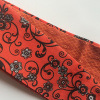Burnt Orange Reversible Headband for Women - Orange Fabric Headband - Womens Hair Fashion - Teen Hair Accessory - Cotton Headband -