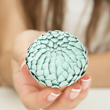 Blue Dragon Scales Snake Skin Ring Box Wooden Round Decorated Engagement Ring Holder Marriage Offer Ring Case Wedding Bridal Birthday Gift