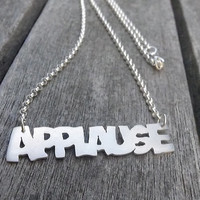 Gaga Applause sterling silver WordPop necklace