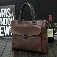 multi-function casual business leather bag