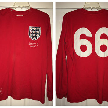 Sale!! Vintage UMBRO ENGLAND vs West Germany 1966 Soccer Jersey Retro Football Shirt