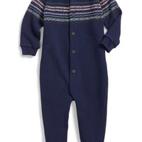 Infant Boy's Ralph Lauren Fair Isle Knit One-Piece,