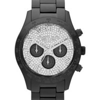 Michael Kors Watch, Women's Chronograph Layton Black Tone Stainless Steel Bracelet 44mm MK5668 - Women's Watches - Jewelry & Watches - Macy's