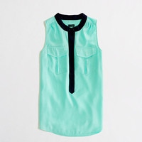 Factory tipped sleeveless popover