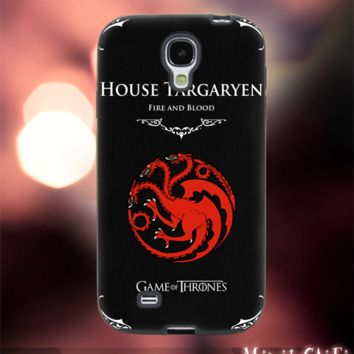 MC611Y,8,House of Targaryen,fire and Blood -Accessories case cellphone-Design for Samsung Galaxy S5 - Black case - Material Soft Rubber
