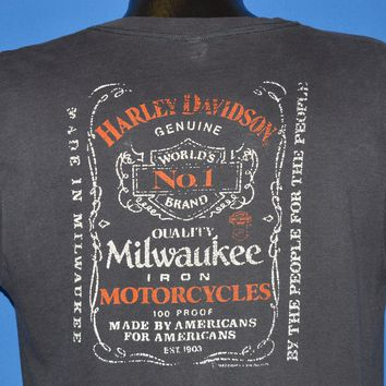80s Harley Davidson Milwaukee Whiskey Sleeveless t-shirt Large
