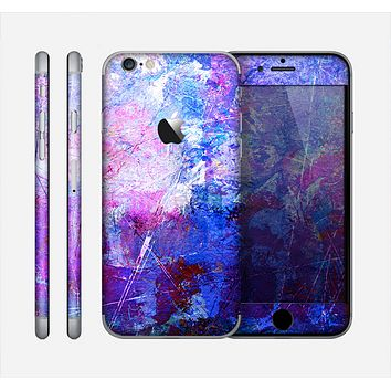 The Abstract Blue & Pink Surface Skin for the Apple iPhone 6