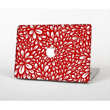 The Red Floral Sprout Skin Set for the Apple MacBook Air 13""