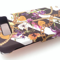 Motorola Droid Razr M xt907 flower gold chain Juicy Couture hard case