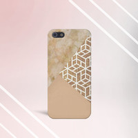 Marble x Gold x Cream Design Case for iPhone 5 iPhone 5S iPhone 4 iPhone 4S and Samsung Galaxy S5 S4 & S3