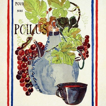 WWI Poster France Save Wine For Our Soldiers.