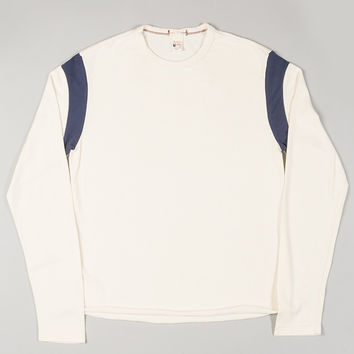 Todd Snyder + Champion Long Sleeve Armhole Tee Off White