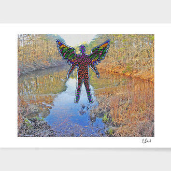 «Angel Over Waters» Art Print by Casey Bell - Exclusive Edition from $24.9 | Curioos