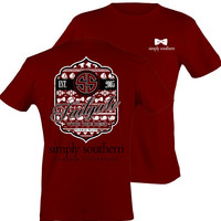 Simply Southern Tailgate Tee - Garnet/Black