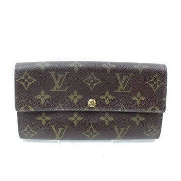 Authentic Louis Vuitton Long Wallet Portefeuille Sarah Browns Monogram 18359
