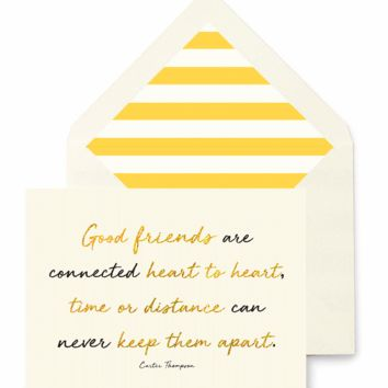 A Friend Is Someone Who Greeting Card, Single Folded Card or Boxed Set of 8