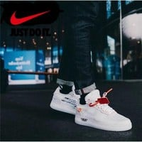 [free shipping] original OFF-WHITE x Nike Air Force 1 LOW Low sports Men shoes