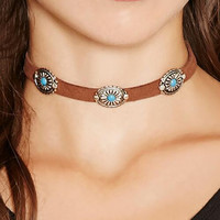 Minimalist 2 Color Boho Ethnic Choker Necklaces Antique Turquoise Leather Chocker Torques For Women Jewelry Collier Femme