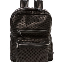 Ash Women's Danica Perforated Leather Backpack - Black