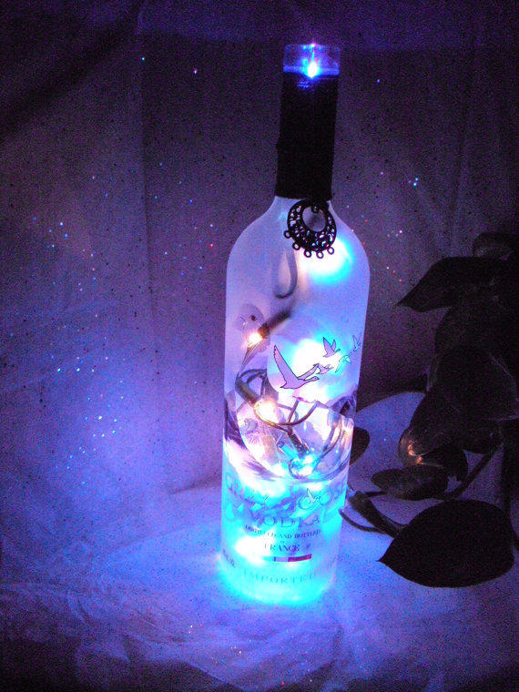 Gray Goose Lighted Wine Bottle From Mamabearsincense On Etsy